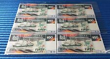6X Singapore Ship Series $50 Note E/53 605450 - 605455 Run Dollar Note Currency