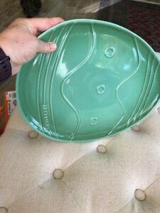 """Le Creuset 14"""" Oval Platter Easter Egg Rosemary RARE"""