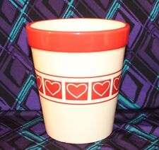 Valentine Hearts Planter Ceramic Container Edible Arrangements