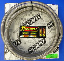 Russell 632170 ProFlex Braided Stainless Steel Hose -10 AN 10' Fuel Oil Gas Line