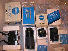 minolta X 500 + 50 1.7 49mm + Tokina SZ-X 287 ( 28 70mm) SZ 820 +( 80-200mm F 4)