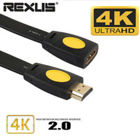 Gold Plated 4K 3D HDMI Extension Cable Extender Male To Female LCD HD TV