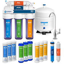 Casa 5 estágios Beber Osmose Reversa sistema Plus 7 Express Filtro De Água-Clear