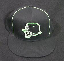 Black Flat Bill Metal Mulisha Men's Hat FlexFit Size L/XL
