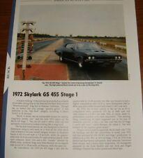 ★★1972 BUICK SKYLARK GS 455 STAGE 1 SPECS INFO PHOTO 72 GRAN SPORT S1 S 1 I★★