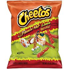 NEW CHEETOS FLAMIN HOT LIMON CRUNCHY CHIPS 8.5 OZ BAG FREE WORLD WIDE SHIPPING
