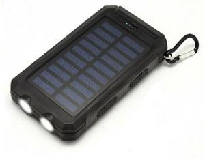 Solar Power Bank Cell Phone Charger 10000 mAh, Waterproof, Shockproof, Giftbox