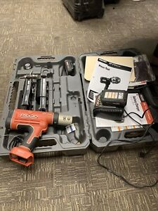 """JMA/Ridgid  RP210, Press Frames (1/2"""", 1 &5/8"""") 2 Batteries And Charger"""