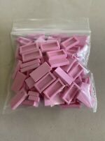 Lego Bricks ~ Lot of 90 PINK Flat Tiles Bricks 1 x 2 NEW