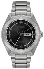 Citizen Eco-Drive Men's Grey Dial Super Titanium Bracelet 44mm Watch AW0060-54H