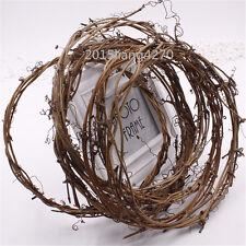 1pcs Realistic Garland Green Leaf Iron Wire Artificial Flower Vine Rattan Weddin