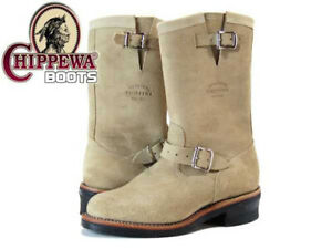 Chippewa 91071 11-in Suede Plain Toe Engineer Men Boots NEW  Size Men US 5 E 6 E