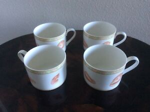 NEW - Victoria Beale Porcelain Atlantis Cappuccino Coffee Cups -Set Of Four