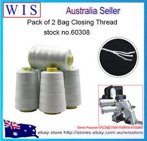 5/PK Wht Industrial Bag Closing Thread,Polyester White Bag Closing Thread-60308