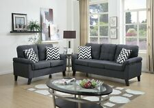 Lounging in Style New Living Room 2pc Sofa Set Blue Gray Sofa & Loveseat Modern