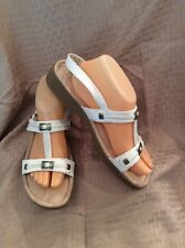EUC Minnetonka Women's Strappy Sandals Size 10 Color White