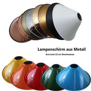 Metall Lampenschirm Ersatz Lochgröße E27 Sockel ø 40mm mehrfarbig Lampe Schatten