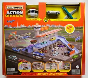2021 Matchbox Action Drivers Airport Adventure w/ '16 Chevy Camaro SILVER / MIB