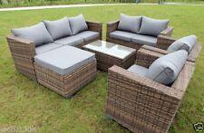Wicker Sofa 2 Pieces Garden & Patio Furniture Sets