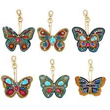 6pcs DIY Butterfly Full Drill Special Shaped Diamond Painting Keychain Gift Xmas