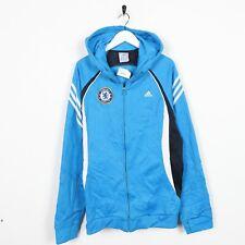 Vintage ADIDAS Chelsea FC Polyester Zip Up Hoodie Sweatshirt Blue Medium M