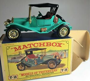 Y14 Matchbox Lesney, Models of Yesterday, 1911 Daimler, Original Box