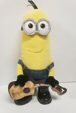 """Build a Bear 18"""" Plush Kevin Minion Despicable Me with Overalls, boots, Guitar"""