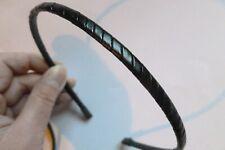 Fermacapelli cerchietto unisex metallo ricoperto ecopelle robusto vari colori