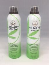 Lot of 2 Hempz Sunlesss Tanning Bronzing Spray Professional Airbrush Ultra Fine