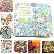 SH Secret Garden Animal Kingdom Treasure Hunt Coloring Painting Book Adult Kids