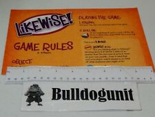 2008 Likewise Board Game Replacement Instructions Only