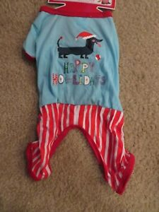 Dachshund Pet Dog Happy Howlidays Christmas Holiday Pajamas NEW
