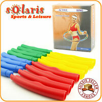 Collapsible Plastic 80cm Fitness Hoop 16 Sections Detachable Weighted Adjusted