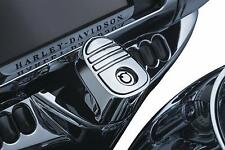 Kuryakyn Chrome Tri-Line Ignition Switch Cover Harley Touring Bagger FLH 14-2017