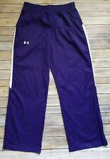 Under Armour Windbreaker Pants Size XL Purple White Womens Athletic Running Gear