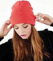 PULL-ON Beanie Hat | 60 COLOURS | Beechfield Original Soft Touch Cuffed Beanie