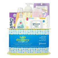 Johnson's Bath Discovery Baby Gift Set, Baby Bath Time Essentials for Parents-to