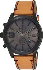 Diesel Men's Rasp DZ4468 50mm Gray Dial Leather Watch