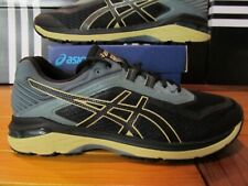 DS Asics GT 2000 6 Trail $120 Black Forest Green Tan 11 T8A2N 9090 Running Shoes