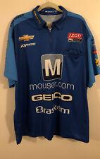 Mens Impact Indy Car Tony Kanaan Mouser Electronics Blue Racing Shirt -  Sz 2XL
