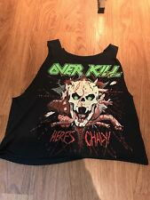 Vintage Rock T Shirt Overkill Tank Top Distressed Clothing