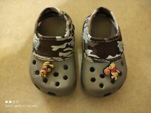 camo CROCS shoes sandals baby Toddler boy size 4 5