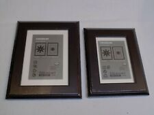 Ikea Virserum Black White Matted 5x7 & 4x6 Picture Photo Frame Wood Set 2 Lot