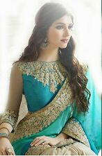 Designer bollywood partywear beautiful light blue colour fancy border saree