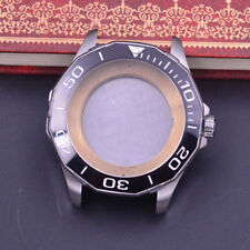 44mm Sapphire Glass ceramics Bezel Watch Case fit ETA 2824 2836 MOVEMENT
