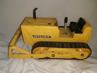 Vintage Nylint Die Cast Pressed Steel Bulldozer Metal Yellow Construction