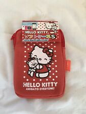 Hello Kitty Sanrio Phone Camera iPod MP3 Player Case Bag Pouch Cover Red Japan