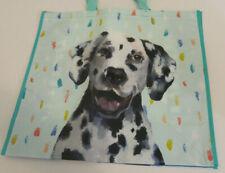 Dalmation Dog TJ Maxx Large Reusable Eco Friendly Tote Shopping Bag Blue New