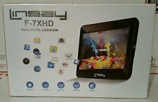 "LINSAY F-7XHD 7"" Tablet PC Android 4gb *NEW IN SEALED BOX/PACKAGING*"