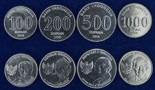 INDONESIA COMPLETE FULL COIN SET 100+200+500+1000 Rupees 2016 UNC LOT of 4